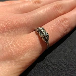 TIMELESS VINTAGE 60s Silver Ring with Engraving